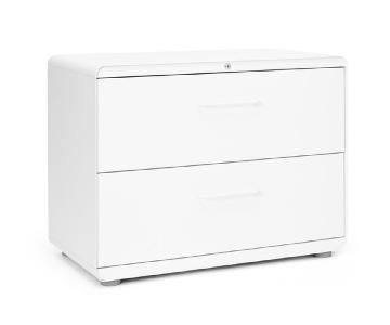 Poppin White Stow Lateral File Cabinet