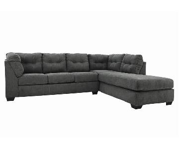 Ashley Maier Charcoal Sleeper Sectional Sofa