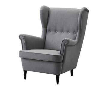 Ikea Srandmon Wing Chair & Ottoman