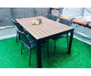 Ikea Outdoor Patio Dining Table w/ 4 Chairs