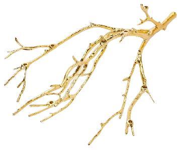 West Elm Manzanita Candelabra in Gold