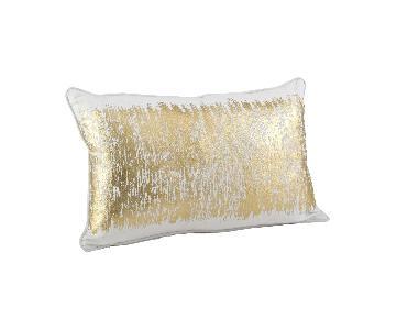 Saro Lifestyle Agatha Collection Gold Throw Pillows
