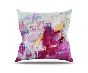 Kess InHouse Iris Lehnhardt Blue Purple Pink Pillow