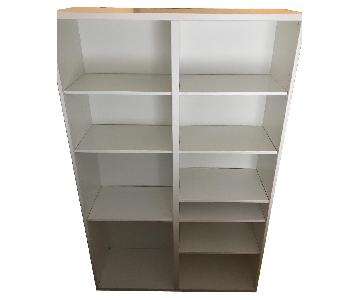 Ikea Besta White Shelving Unit