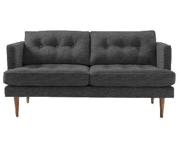 West Elm Peggy Loveseat in Charcoal Twill