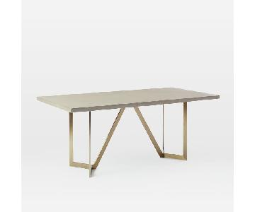 West Elm Concrete Tower Dining Table
