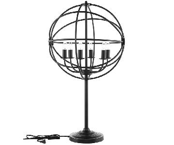 Manhattan Home Design Atom Table Lamp in Black
