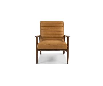 Article Charme Tan Leather Armchairs