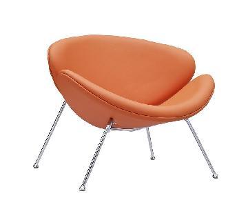 Manhattan Home Design Upholstered Vinyl Lounge Chair