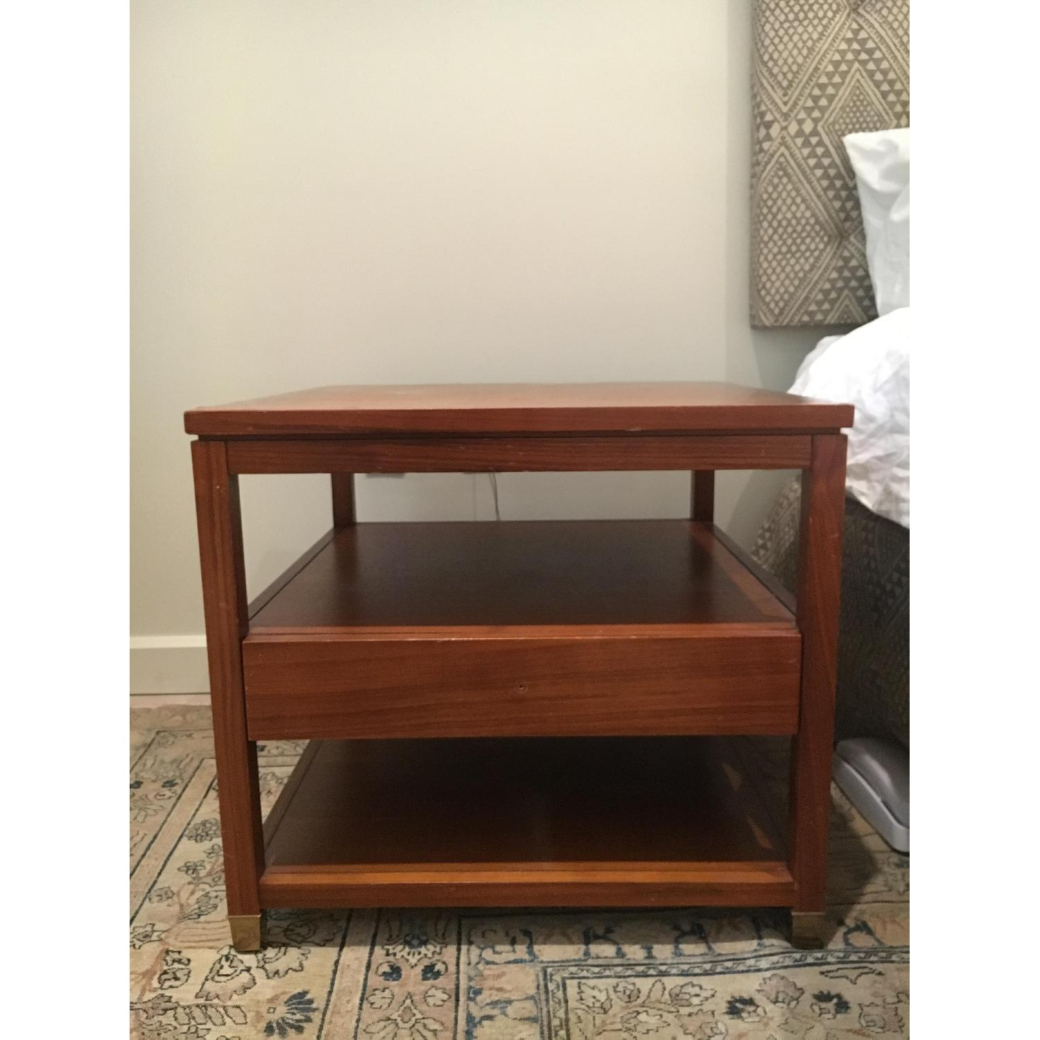 Mitchell Gold + Bob Williams Wood Side Table w/ Drawer