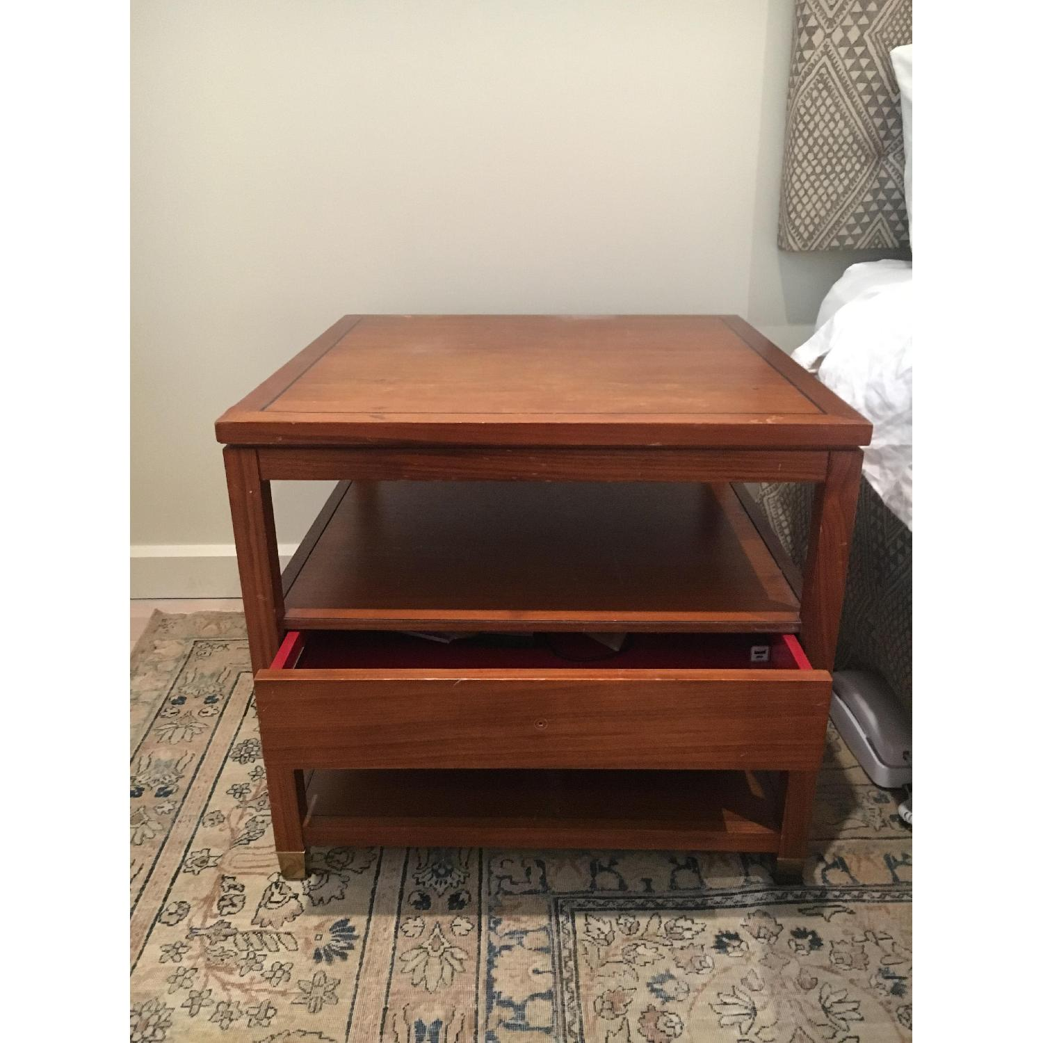 Mitchell Gold + Bob Williams Wood Side Table w/ Drawer-0