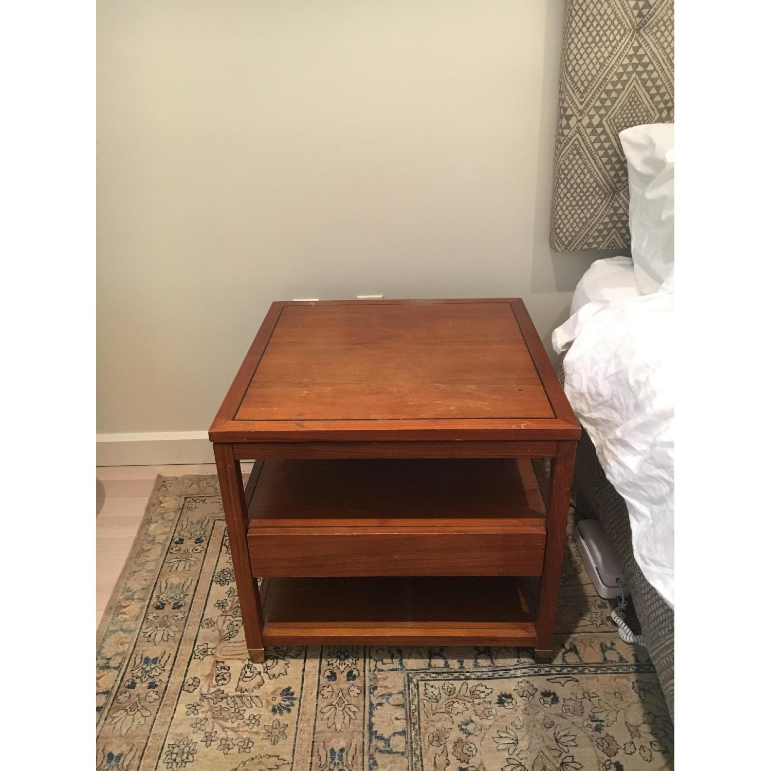 Mitchell Gold + Bob Williams Wood Side Table w/ Drawer-1
