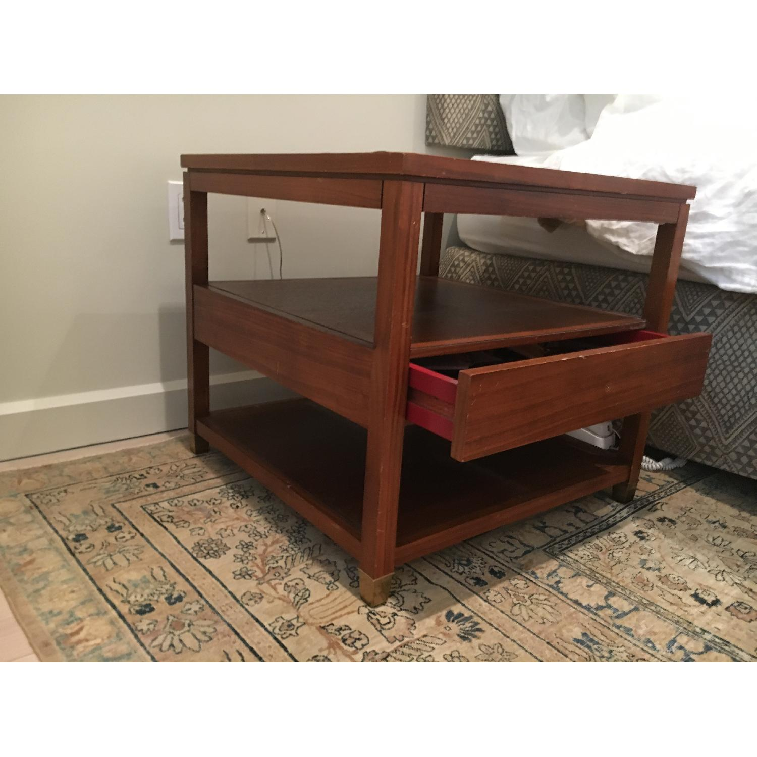Mitchell Gold + Bob Williams Wood Side Table w/ Drawer-3
