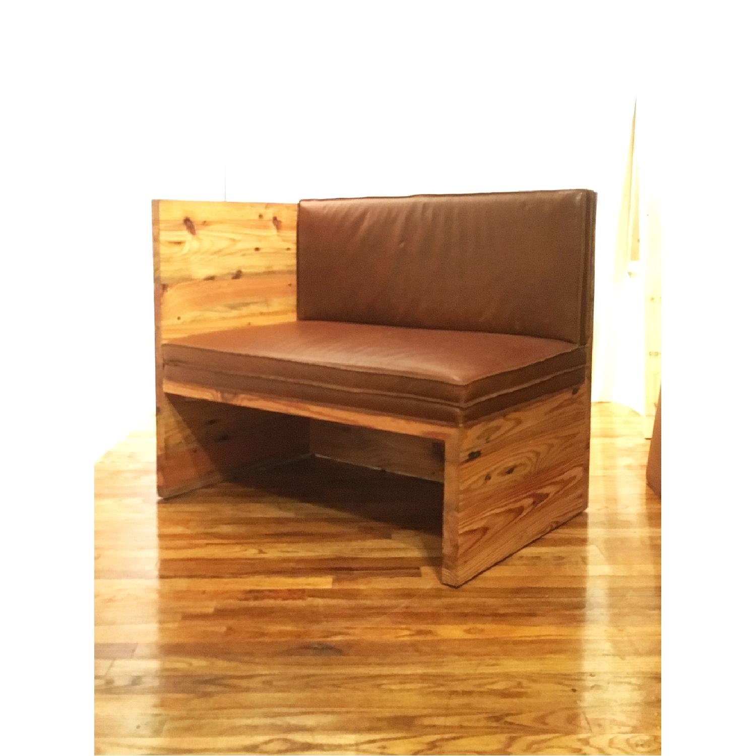 Solid Pine & Leather Donald Judd Inspired Bench