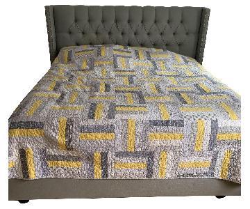 Skyline Furniture Tufted Upholstered King Bed Frame