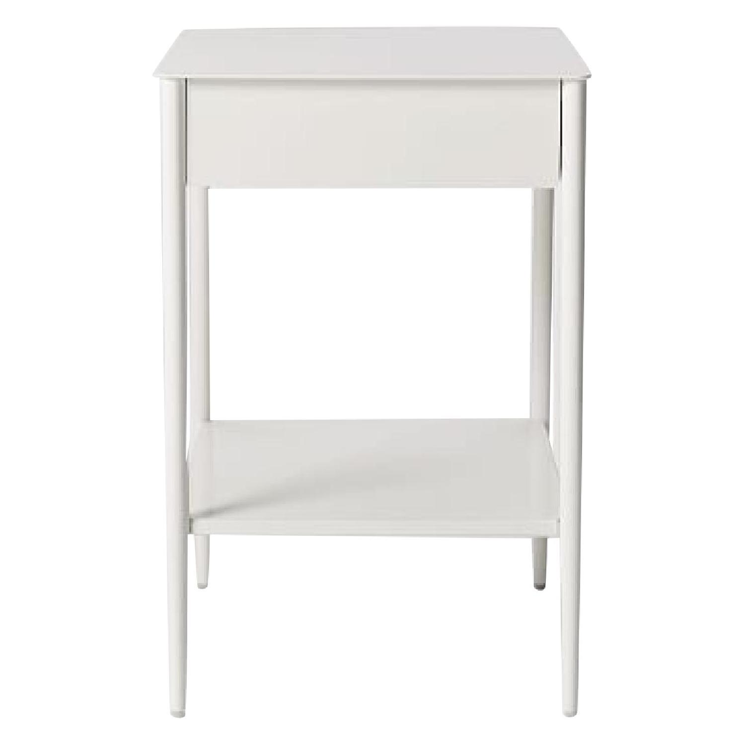 West Elm Metalwork Nightstand in White Lacquer