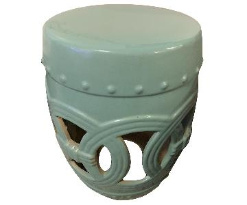 Green Ceramic Side Table