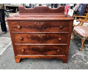 Antique 1930s Solid Wood Dresser