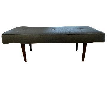 Blue Mid Century Modern Bench