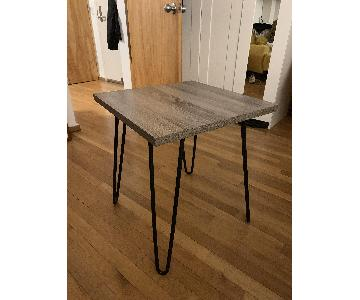 Wood Top Side Tables w/ Hairpin Legs