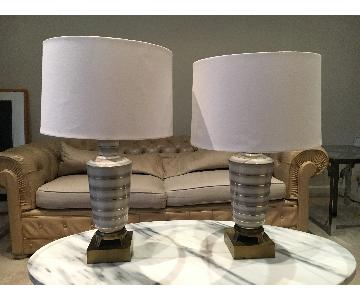 Vintage Dior Inspired Table Lamps