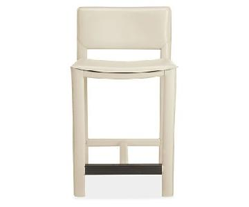 Room & Board Bar Stools in Ivory Leather
