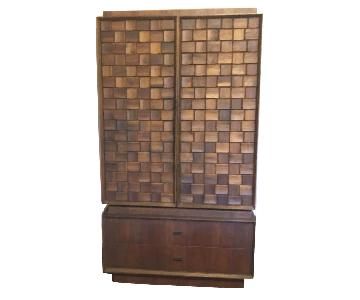 Vintage 1970s Canadian Solid Wood Armoire