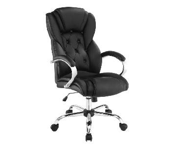 High Back Cushioned Office Chair w/ Chrome Base
