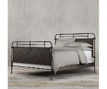 Restoration Hardware Academie Metal Bed w/ Footboard