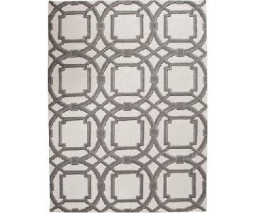 Global Views Arabesque Rug in Grey