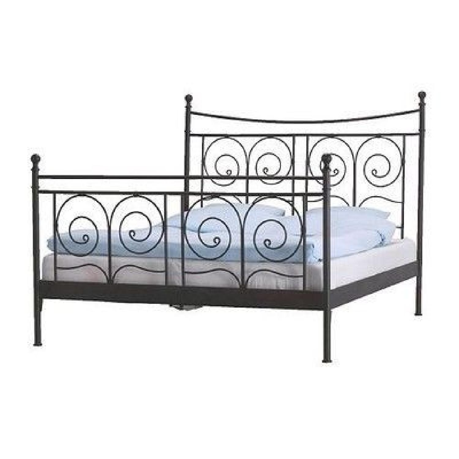 Ikea Black Metal Full Size Bed