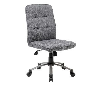 Boss Gray Modern Fabric Ergonomic Office Chair