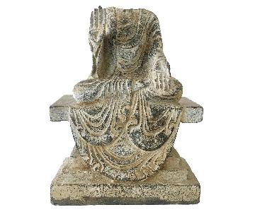 Antique Chinese Tang Dynasty Blue Stone Buddha Statue