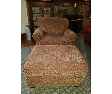 Raymour & Flanigan Lounge Chair & Ottoman