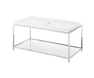 Wrought Studio Boger Coffee Table w/ Removable Trays