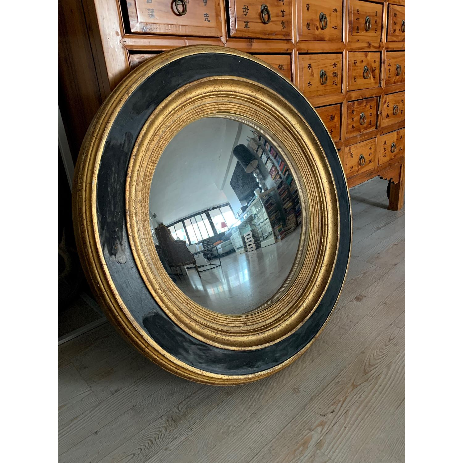 Italian Painted Wood Convex Mirror-0