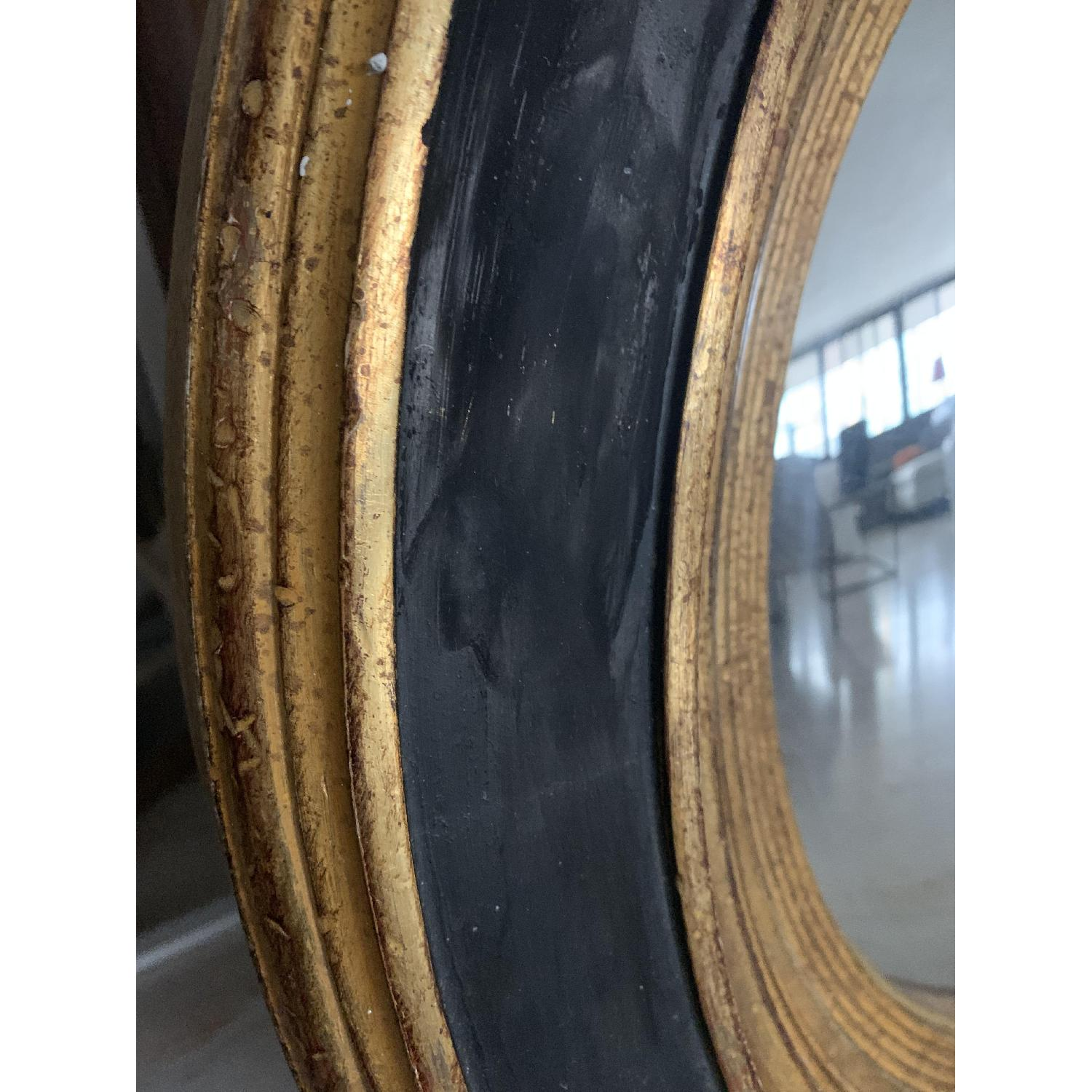 Italian Painted Wood Convex Mirror-3