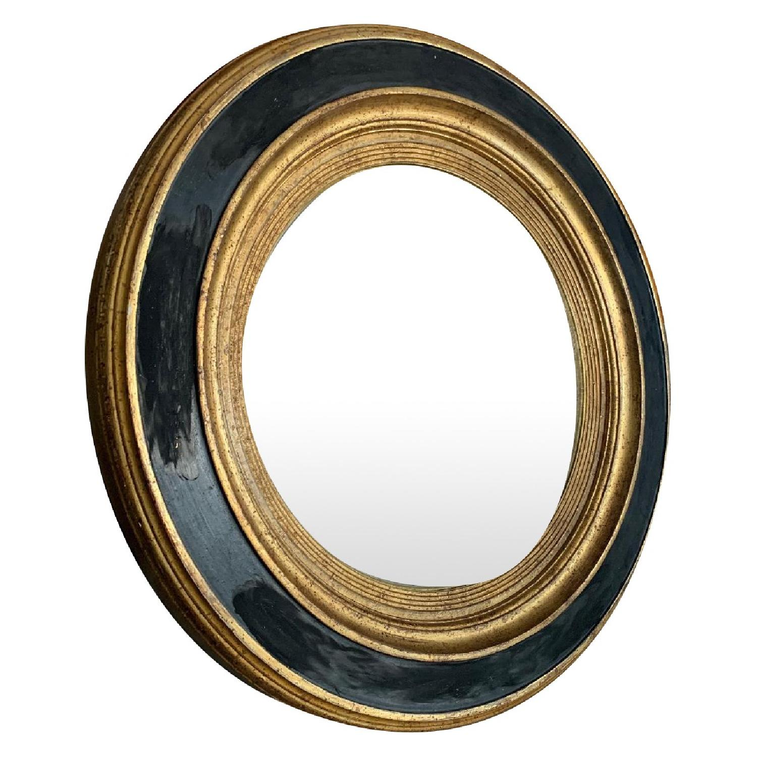 Italian Painted Wood Convex Mirror