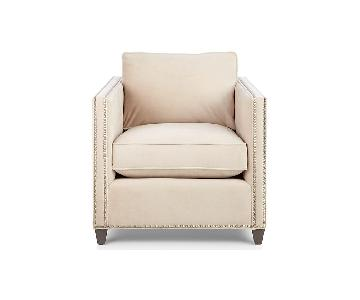 Crate & Barrel Dryden Chairs w/ Studs