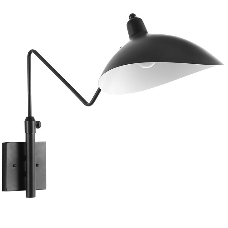 Manhattan Home Design Wall Lamp in Black