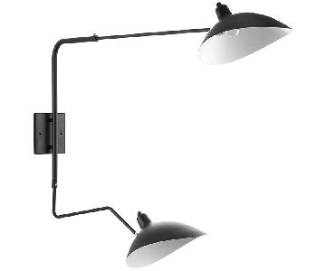 Manhattan Home Page Double Fixture Wall Lamp