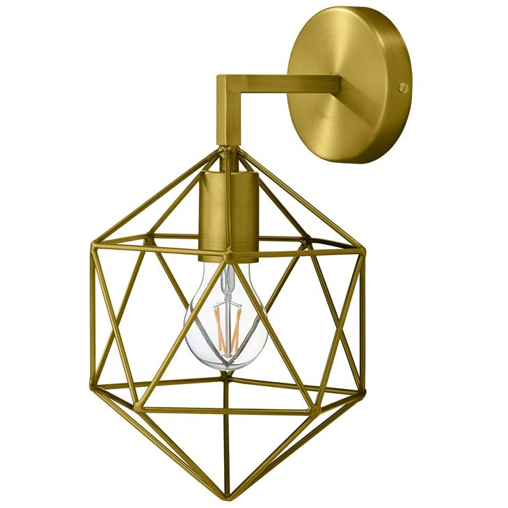 Manhattan Home Design Derive Brass Wall Light