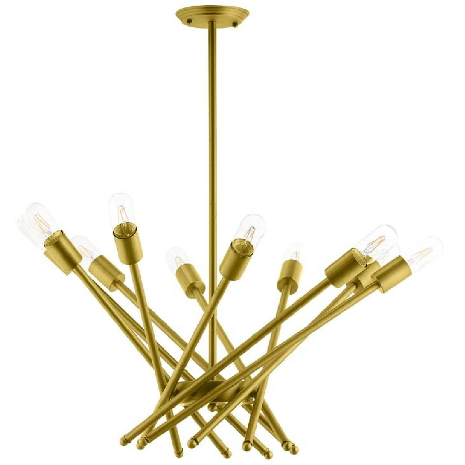 Manhattan Home Design Cherish Brass Metal Pendant Light