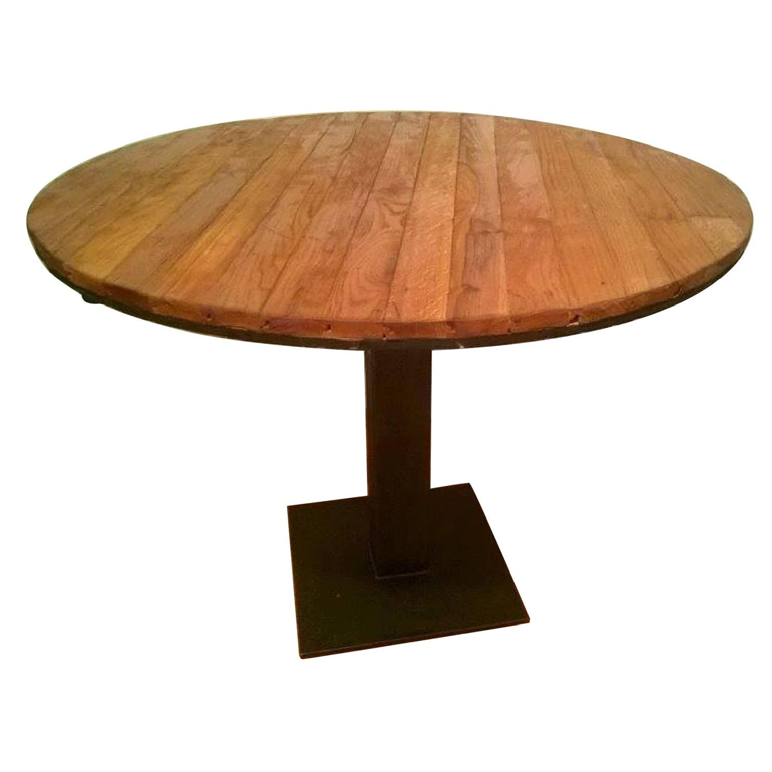 Refoundry Reclaimed Wood & Iron Round Table
