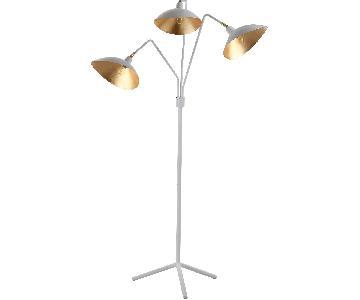 Safavieh Modern White & Gold Three-Light Floor Lamp