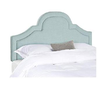 Safavieh Kerstin Sky Blue Arched Full Headboard