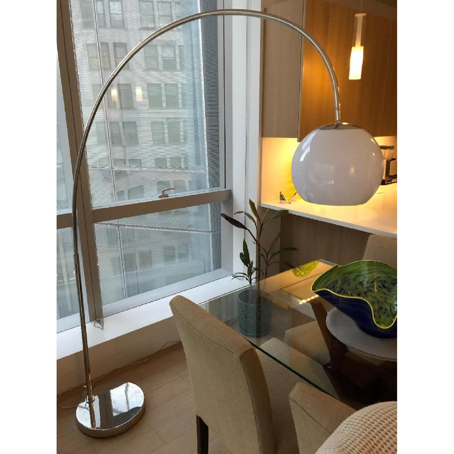 West Elm Overarching Acrylic Shade Floor Lamp-2