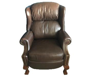 Pennsylvania House Leather Recliners w/ Ball & Claw Legs