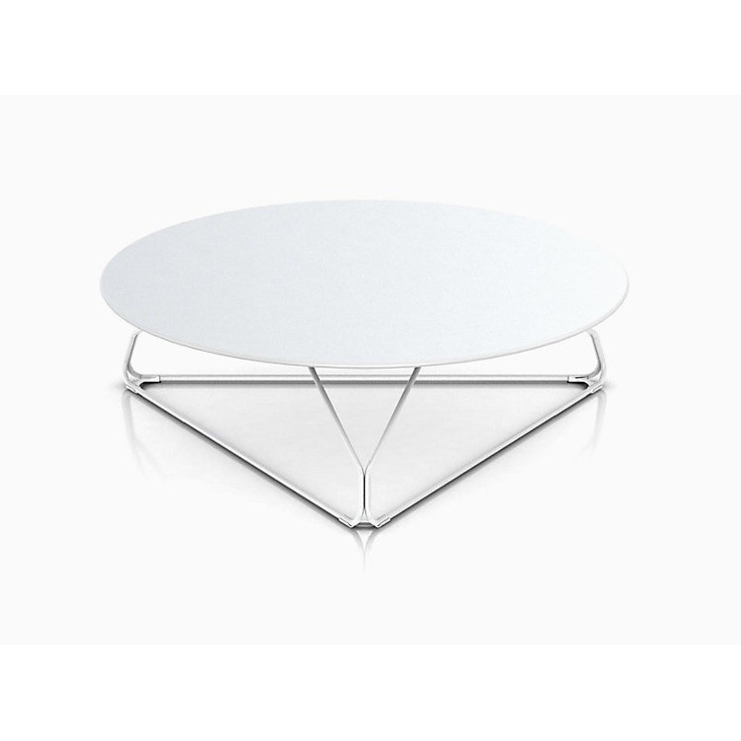 Herman Miller Polygon Wire Triangle Table in White