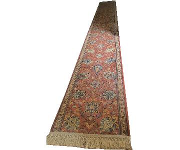 Red Persian Style Hallway Runner Carpet